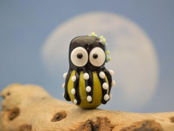 Ursula lampwork  octopus bead sra by DeniseAnnette on Etsy, $11.00