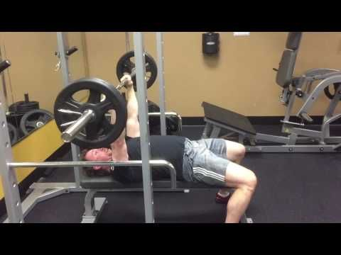Looking For A Unique Way To Thrash Your Upper Body And Core Try This Barbell Negative Pullover To Speed Bench P Bench Press Exercise Benches Bench Press Rack
