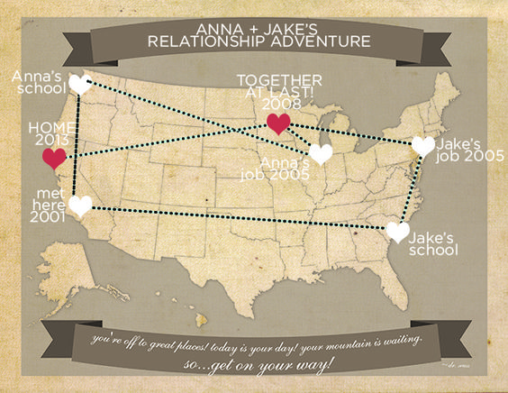 Free printable travel map perfect for the traveling couple – Maps Travel Distance