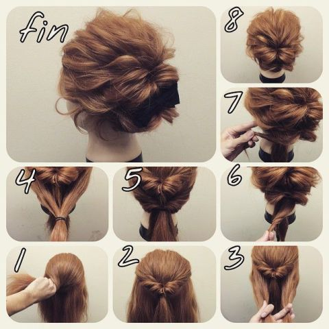 21 Super Easy Updos For Beginners Short Hair Styles Hair Bun Tutorial Short Hair Updo