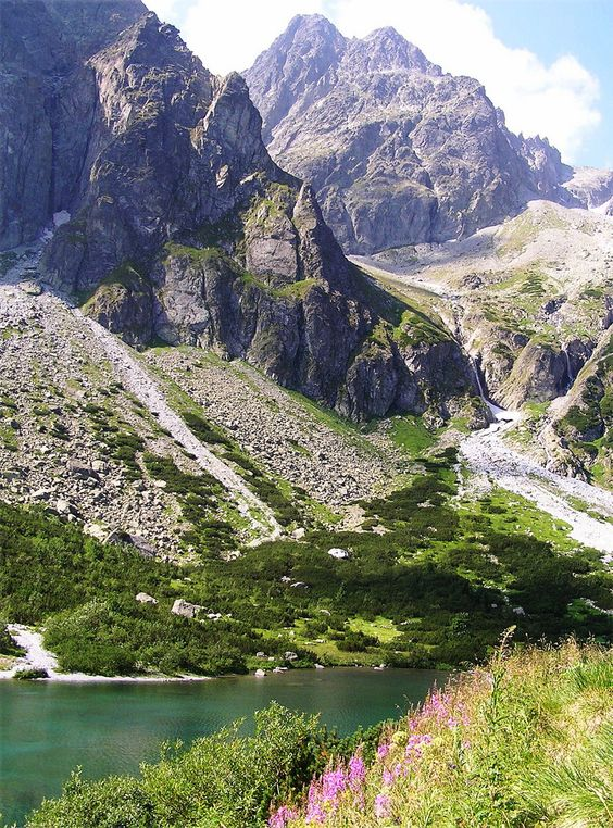 The Green Lake (Zelené pleso) in High Tatras Mountains, Slovakia