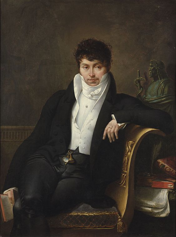 """Merry-Joseph Blondel: """"Portrait of Pierre-Jean-George Cabanis"""",  19th century,  oil on canvas, Dimensions: 125.5 × 92 cm (49.4 × 36.2 in), Private Collection.:"""