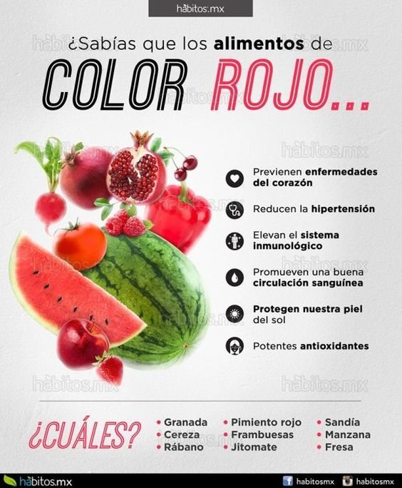 Sabías Que Los Alimentos De Color Rojo Beneficios De Alimentos Frutas Y Verduras Beneficios Dieta Y Nutrición