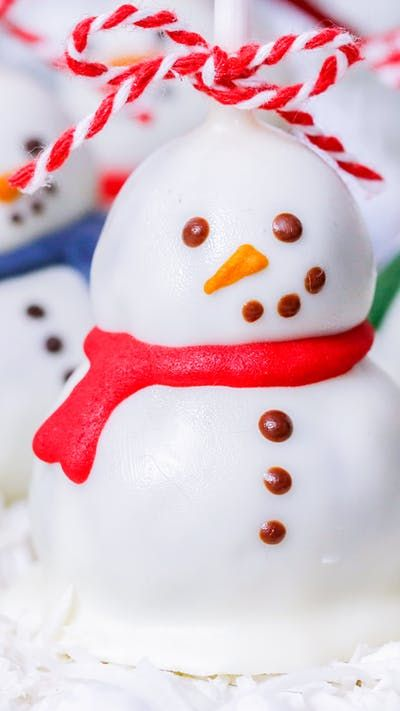 Snowman Cake Pop Recipe Snowman Cake Pops Perfect Cake Pops Christmas Cake Pops