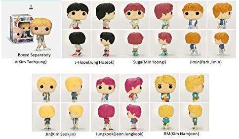 Pop Rocks Bts Monster Rm Jin Suga J Hope Jimin V And Jungkook Vinyl Figures Set Of 7 Vinyl Figures Suga Jimin