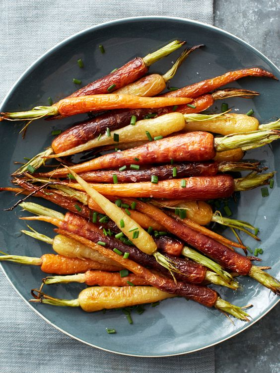 Roasted Rainbow Carrots from #FNMag