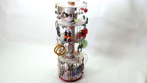 Me gusta reciclar organizador de pendientes zarcillos - Organizador de papeles ...