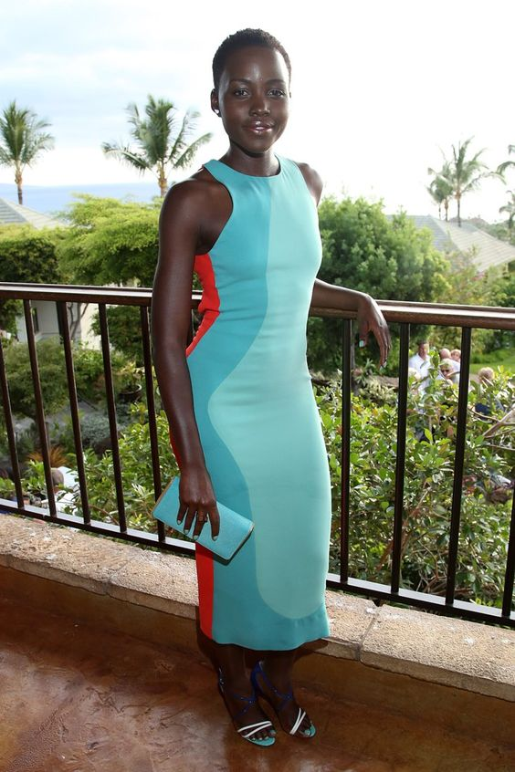 Pin for Later: When in Maui, Emma Roberts Does as the Hawaiians Do Lupita Nyong'o Lupita Nyong'o in Calvin Klein Collection at the Maui Film Festival.