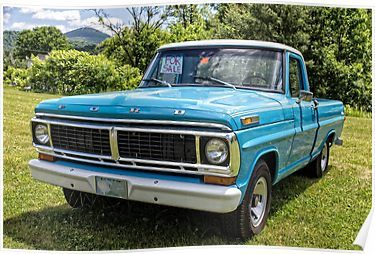 Classic Old Ford Pickup Truck Poster By Edward Fielding