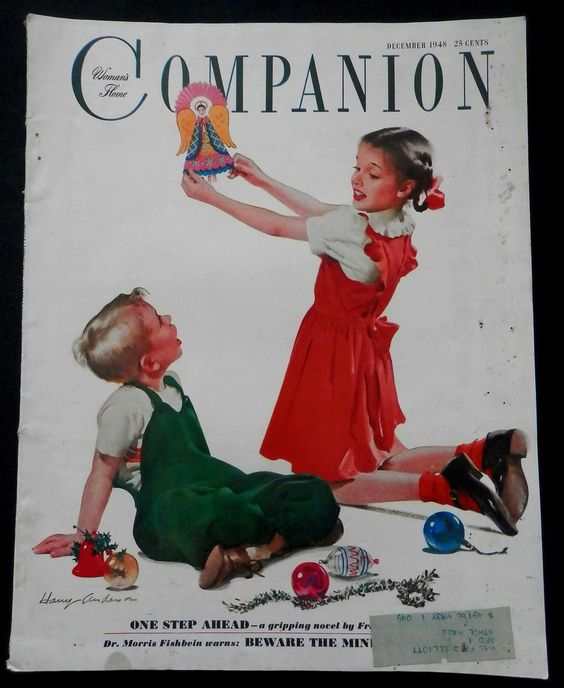 Womans Home Companion Magazine December 1948 BREAST CANCER - FASHION - CHRISTMAS