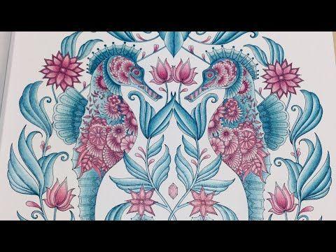 Shading Tutorial Schattierung Lost Ocean Seahorse Johanna Basford Polychromos Youtube Lost Ocean Coloring Book Lost Ocean Johanna Basford Lost Ocean
