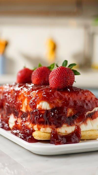 Essa torta gelada de morangos vai te conquistar!