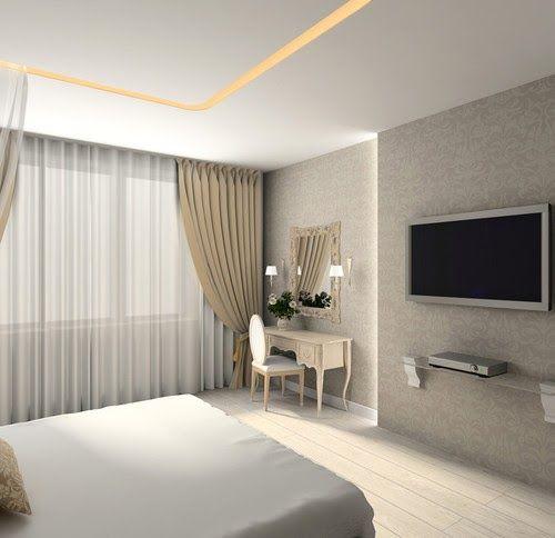 ستائر مودرن غرف نوم رئيسية متناسقة مع الوان الغرفة وتأتي على طبقتين الفوال والموديل Modern Apartment Decor Elegant Living Room Decor Ceiling Design Living Room