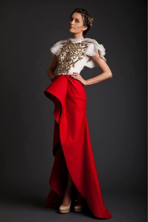 BEAUTIFUL EVENING DRESSES by KRIKOR JABOTIAN