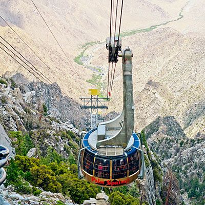If we're feeling outdoorsy: Ride the Palm Springs Aerial Tramway up 8,516 feet for over 54 miles of forested hiking trails.