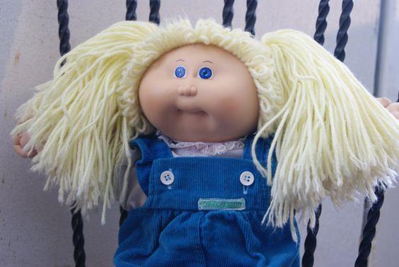 Vintage Cabbage Patch Kid 1985 Blonde Yarn Pig by BrooksideVintage, $25.00