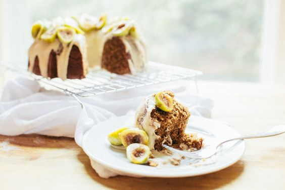 Almond Cake and Fresh Figs