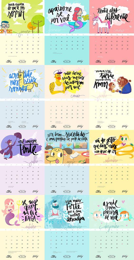 Calendário 2015 para imprimir em casa: