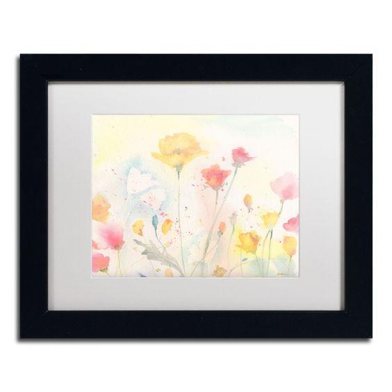 Poppy Festival by Sheila Golden Framed Painting Print