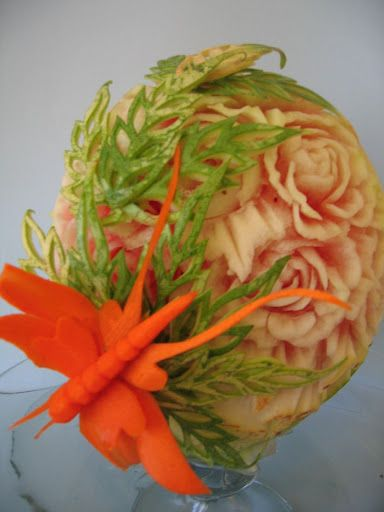 Pumpkins fruit carvings and people on pinterest