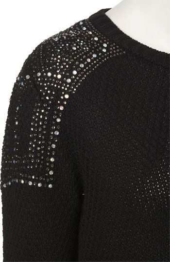 Topshop Embellished Shoulder Sweater | Nordstrom