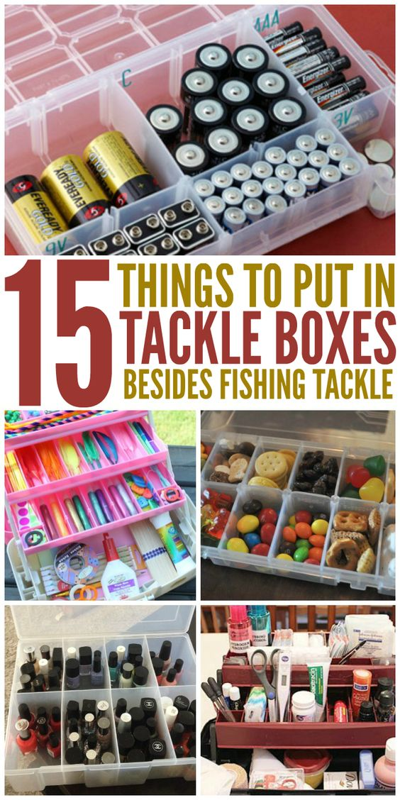 15 things to put in tackle boxes besides fishing tackle for Fishing tackle organization