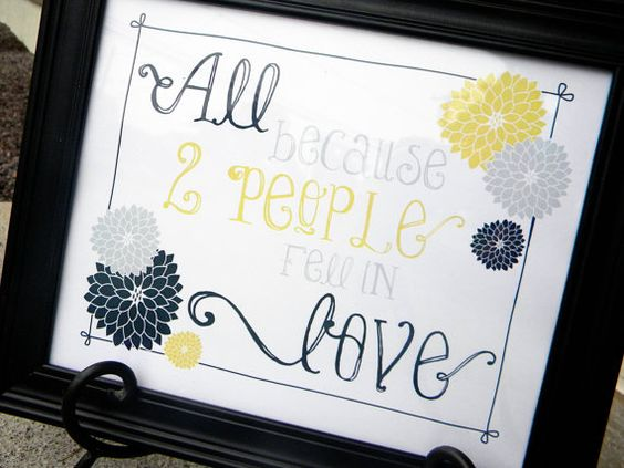All Because 2 People Fell in Love - Printable Home Decor