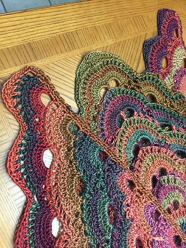 Crochet Pattern For The Virus Shawl : Ravelry: Scallop Border for Virus Shawl pattern by Rhonda ...