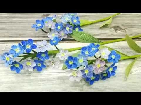 How To Make Crepe Paper Flower Forget Me Not Step By Step
