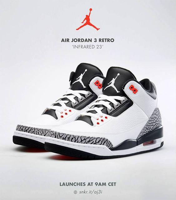 nike air max chaussures de tennis de la cour mondiale - Air Jordan 3 Retro Infrared 23 | ISSYS World | Pinterest | Air ...