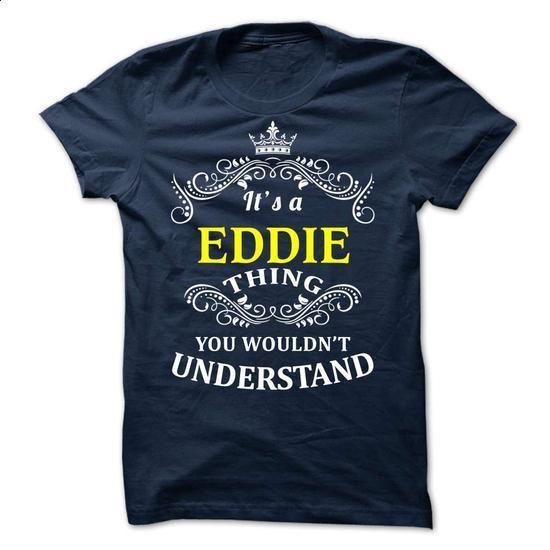 EDDIE it is - #red shirt #cat hoodie. ORDER HERE => https://www.sunfrog.com/Valentines/-EDDIE-it-is.html?68278