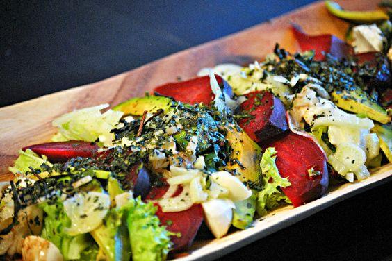 Beet, Avocado & Fennel Salad with Fresh Mozzarella