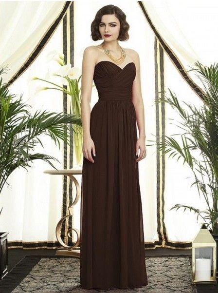 Brown Bridesmaid Dress - Ocodea.com