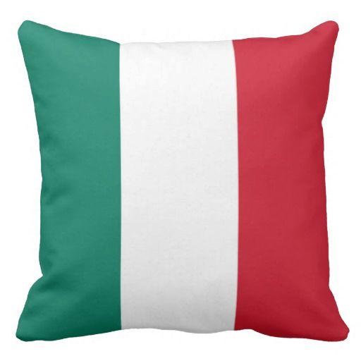 Italy Flag Throw Pillow French Flag Throw Pillows Pillows