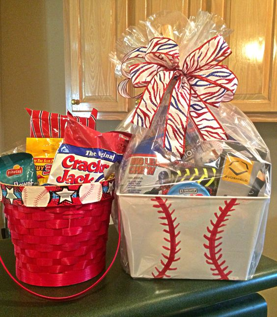 Baseball themed Easter or gift basket: