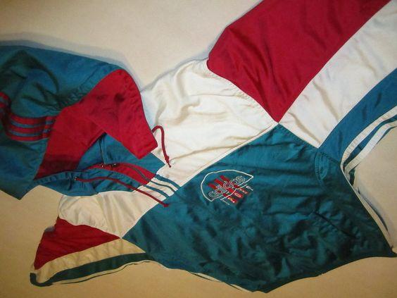Adidas Trainings Jacke Kapuze Sport Jacket Track Top 90er Vintage VTG D 9 XL 198 in Kleidung & Accessoires, Vintage-Mode, Vintage-Mode für Herren | eBay