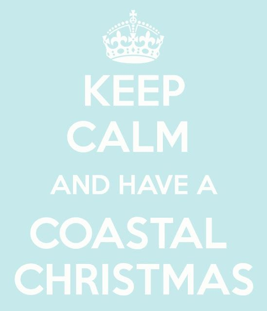 """Keep calm and have a Coastal Christmas"" Facebook: Anna Maria Island Beach Life www.annamariaislandhomerental.com: Beach Christmas, Seaside Christmas, Beachy Christmas, Coastal Holidays, Christmas Seaside, Holiday Christmas Coastal, Coastal Christmas"