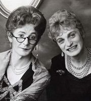 At Home With Hinge And Bracket. Image shows from L to R: Dr Evadne Hinge, Dame Hilda Bracket. Copyright: BBC.