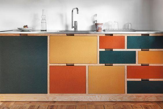 Plywood kitchen by Bedow, Sweden. Pinned by Secret Design Studio, Melbourne. www.secretdesignstudio.com