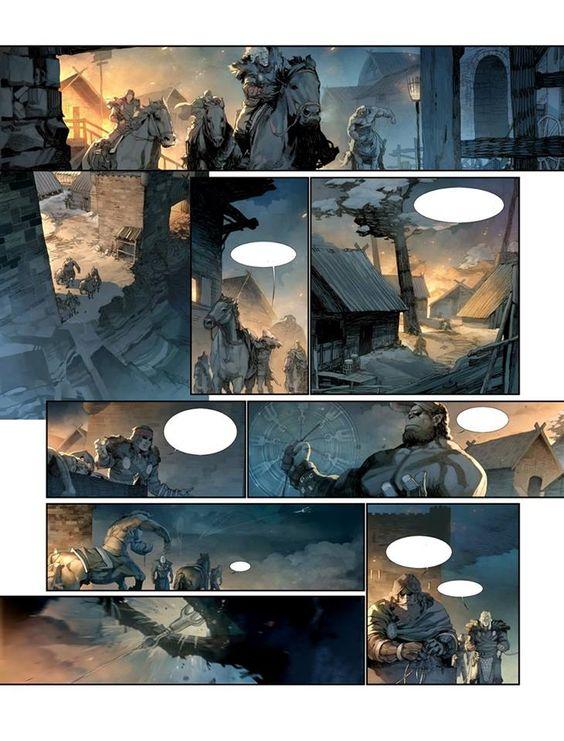 """Konungar"" T3 : ""Le châtiment"" (scénario : Sylvain Runberg/Illustrations : Juzhen/Glénat, 2013). Une page. Récit complet en 3 tomes. Disponible en librairie/""Konungar"" Vol.3 : ""Le châtiment"" (script : Sylvain Runberg/Illustrations : Juzhen/Glénat, 2013. Available now (french version, complete story in 3 volumes). Volume 1 already available in Dutch, Italian, Spanish, German & Russian :"