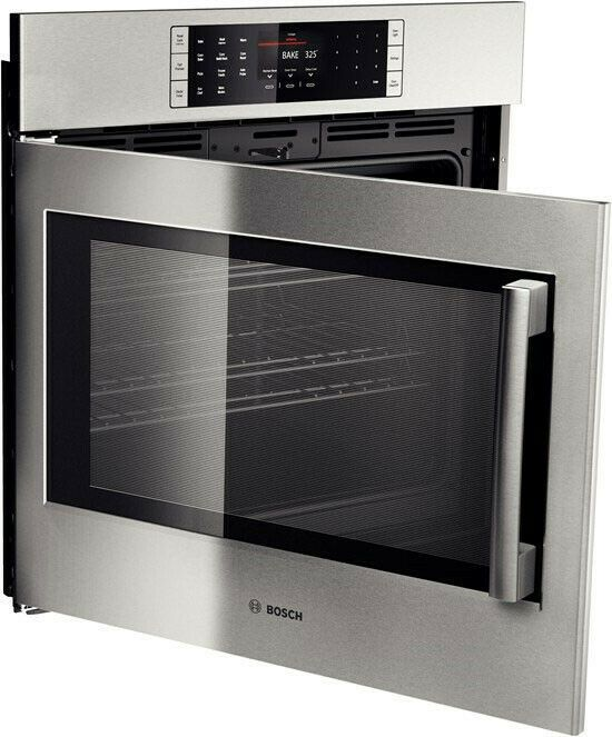 Bosch Hblp451luc 30 Electric Wal Mounted Convection Oven Left Hinge Door Swing Bosch In 2020 Electric Wall Oven Single Electric Wall Oven Convection Wall Oven