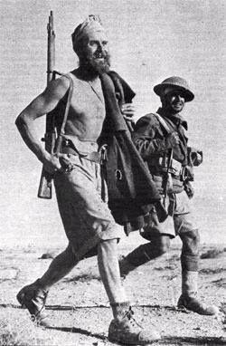 LEGIONNAIRES AND BRITISH SOLDIER