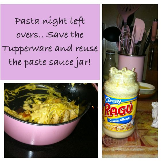 Don't throw out your pasta sauce jar. Reuse it to store left over paste!