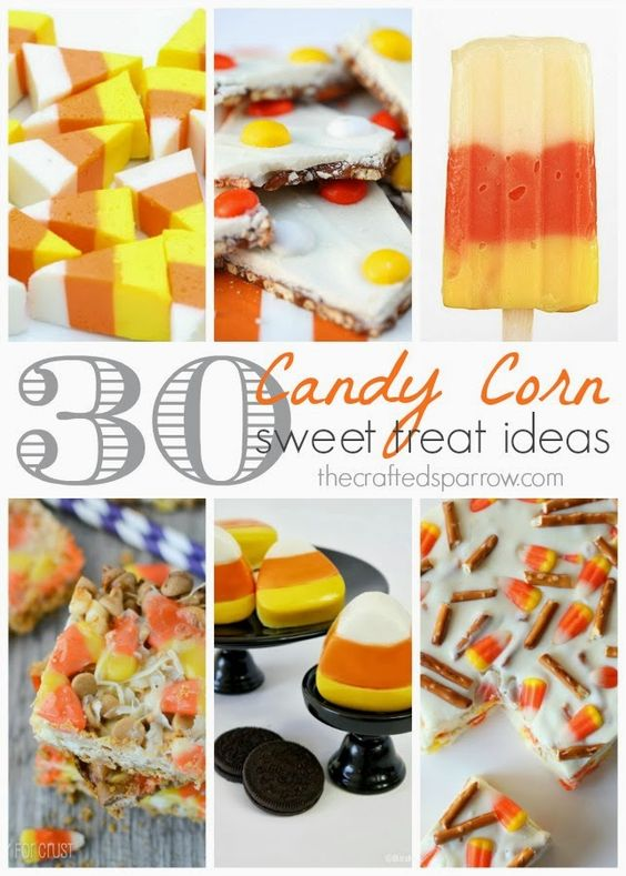 30 Candy Corn Sweet Treats thecraftedsparrow.com