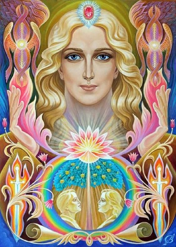 """Archangel Uriel ~ Brings """"Clear knowing"""" or claircognizance, illuminating Your Path and Purpose. spiritual and intellectual understanding is one form of receiving divine guidance. Messages from the angels or Spirit in general are positive, healing, and helpful.:"""