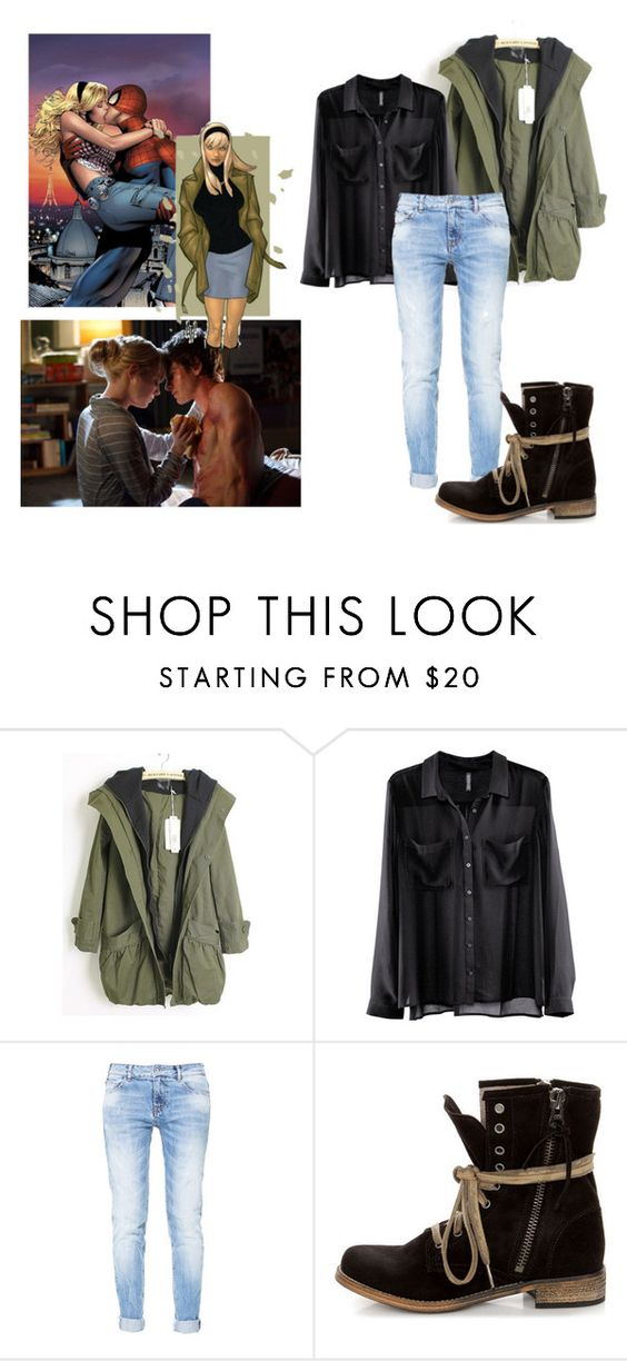 """Gwen Stacy"" by xxxelliiixxx ❤ liked on Polyvore featuring H&M, Zara and MTNG"