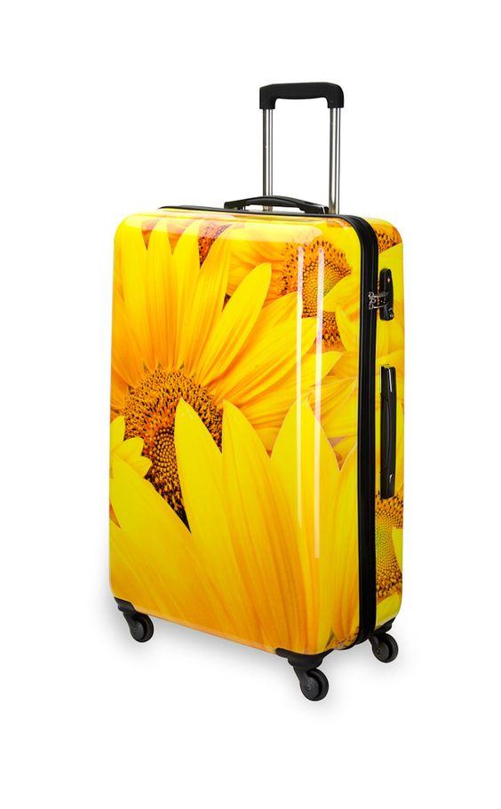Hält den Sommer fest:   Der suitsuit Sunflower Spinner  http://blog.kofferprofi.de/suitsuit-trolley/