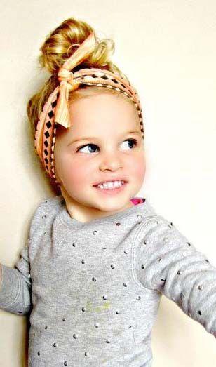 Bandeau Turban Foulard 10 Idees De Coiffure Pour Votre Petite Fille Turban Coiffure Aztec