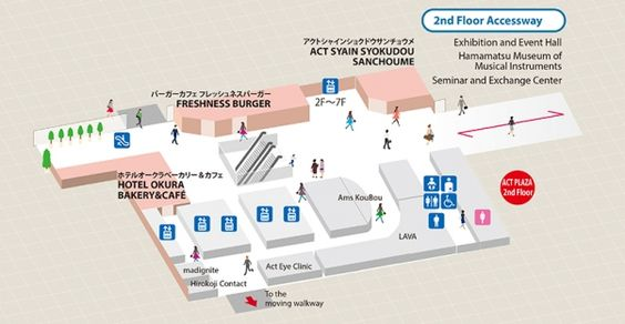 Floor guide and map : English | アクトタワー Act Tower