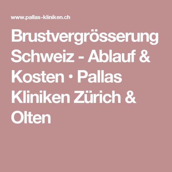 Brustvergrösserung Schweiz - Ablauf & Kosten • Pallas Kliniken Zürich & Olten